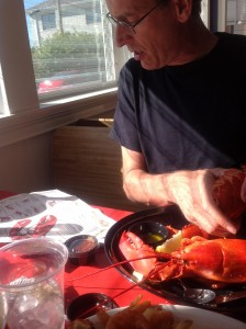 Doug with lobster