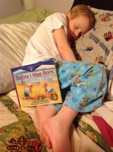 Josiah with book