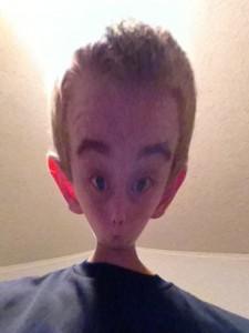 Matthew with alien look