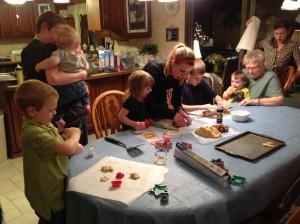 Christmas baking  2 cherry 2012