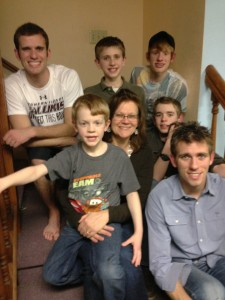 Lisa with six sons