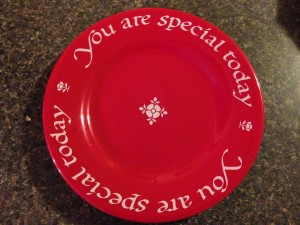 Plate You are special