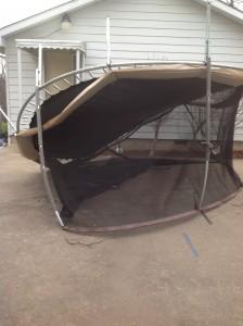 trampoline upside down