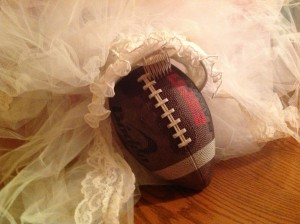 football bridal veil