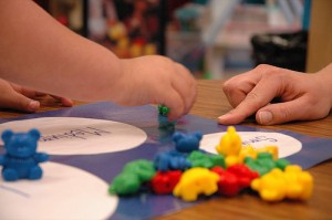 teacher preschool closeup of hands