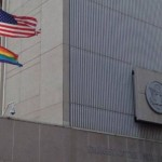 gayprideflagover US embassy